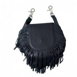 bolso de cuero con flecos