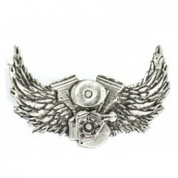 pin motor v-twin con alas