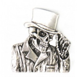 pin calavera gentleman skull