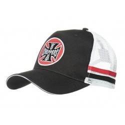 Gorra negra y blanca west...