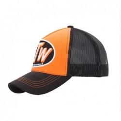 gorra negra y naranja King...