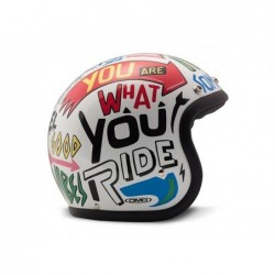 casco jet Dmd vintage words...