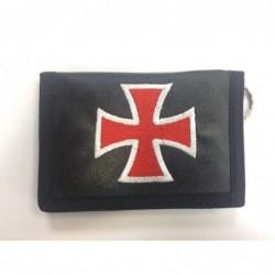 Cartera negra bordado cruz...