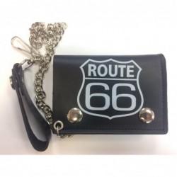 Cartera negra route 66 con...