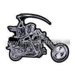 parche espaldera parca en moto