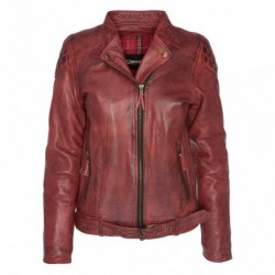 chaqueta moto mujer de...