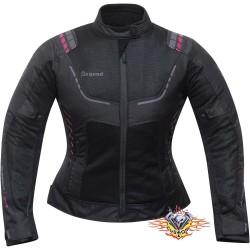 chaqueta moto mujer verano...