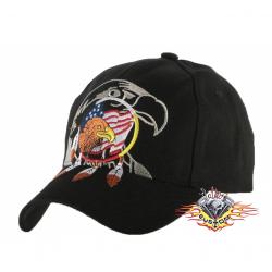 gorra negra cabeza de...