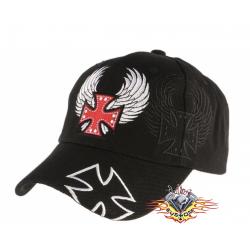 gorra negra con cruz de...