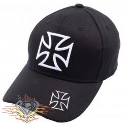 Gorra negra cruz de malta...