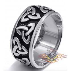 anillo de acero 316L nudos...