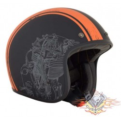CASCO AFX 76 FLAT BLACK ORANGE