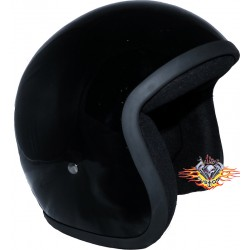 Casco Jet Shiny Black Evo