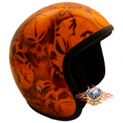 Casco Jet Skull orange Evo