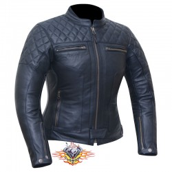 chaqueta moto mujer de piel...