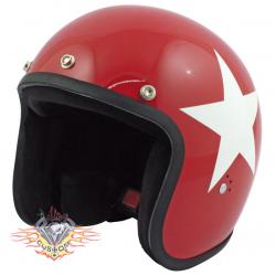casco jet Bandit star rojo...