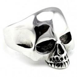Anillo de acero old skull