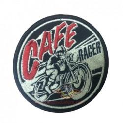 parche pequeño redondo cafe...