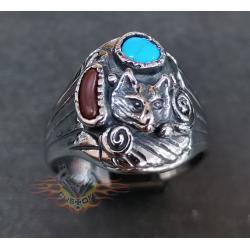 anillo de acero 316L lobo...