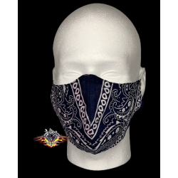 mascarilla tela bandana azul
