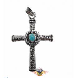 colgante cruz con piedra...