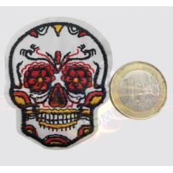 Parche  mini calavera mexicana