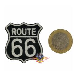 parche mini route 66 negro...