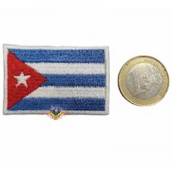 parche mini bandera cubana...