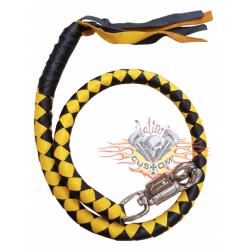 Biker whip amarillo y negro