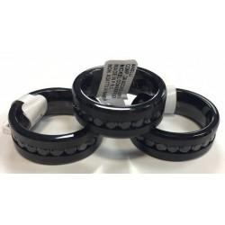 anillo de acero 316L negro...