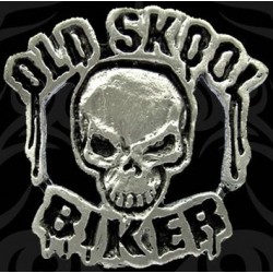 Pin calavera old skool biker