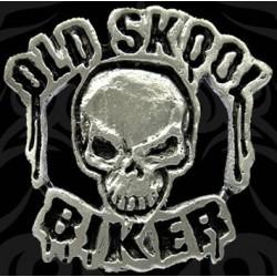pin calavera old skool biker