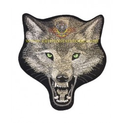 parche pequeño cabeza lobo...