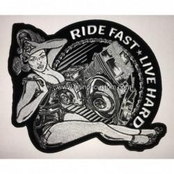 parche espaldera ride fast...