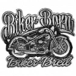 pin moto biker born biker bred