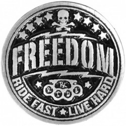 Pin freedom calavera pirata...