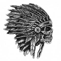 Pin calavera jefe indio