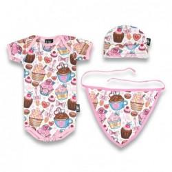 Body bebé conjunto pastelitos