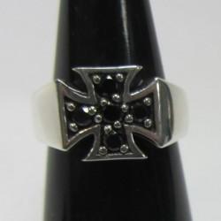 anillo de plata 925 cruz de...